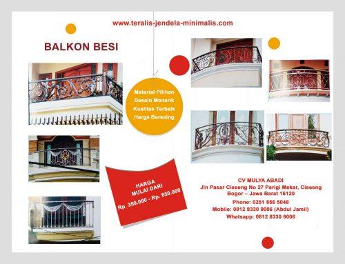 Harga Balkon Besi Termurah di Jakarta Barat
