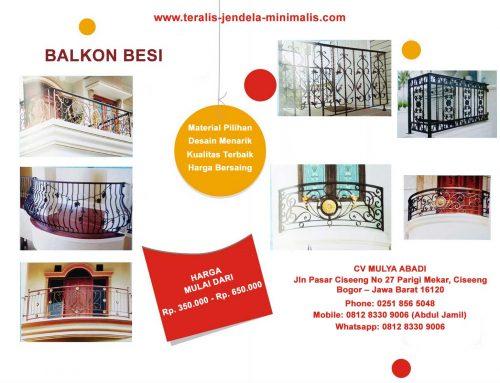 Harga Balkon Besi Termurah  di Gading Serpong