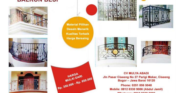 Balkon Rumah Teralis Jendela Minimalis